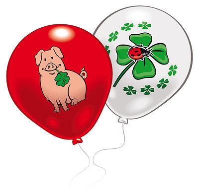 8 Glück Luftballons von Amscan